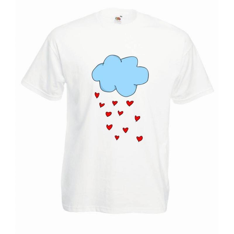 T-shirt oversize DTG HEARTS CLOUD