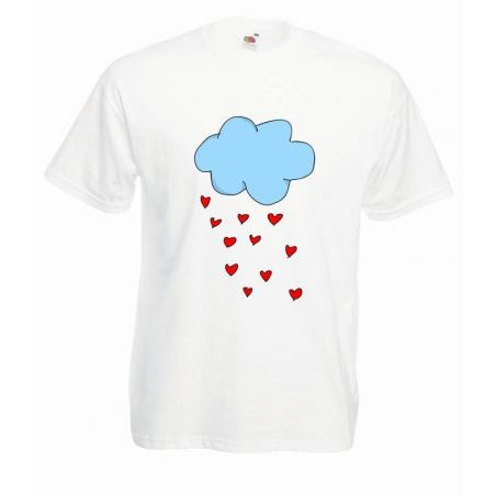 T-shirt oversize DTG HEARTS CLOUD