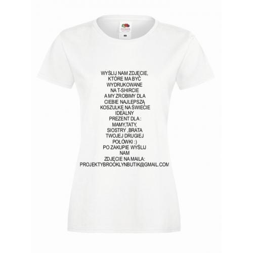 T-shirt lady slim DTG I am smile