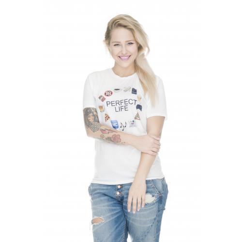 T-shirt oversize DTG PERFECT LIFE