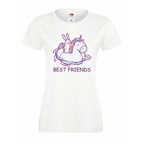T-shirt lady slim DTG BEST FRIENDS