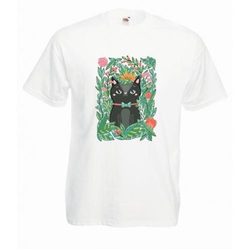 T-shirt oversize DTG BLACK CAT
