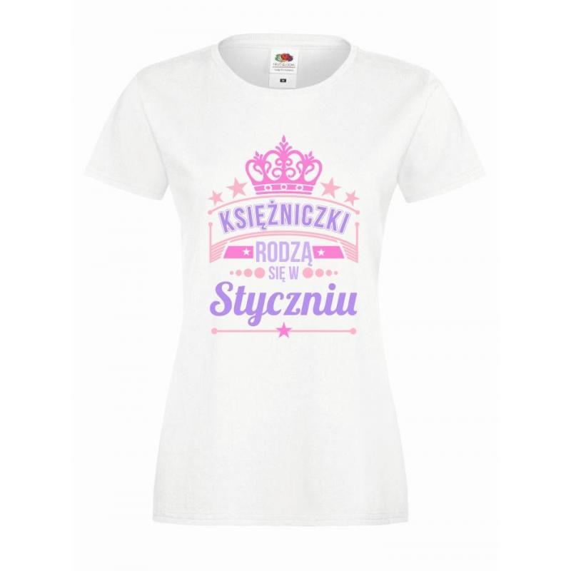 T-shirt lady slim DTG KSIĘŻNICZKI STYCZEŃ