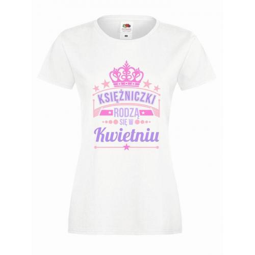 T-shirt lady slim DTG KSIĘŻNICZKI KWIETNIU
