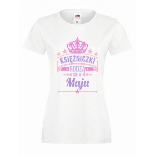 T-shirt lady slim DTG KSIĘŻNICZKI MAJU