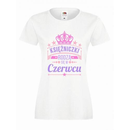 T-shirt lady slim DTG KSIĘŻNICZKI CZERWIEC