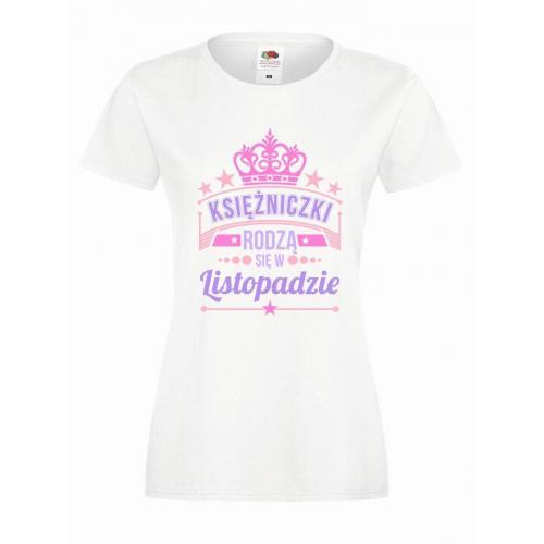 T-shirt lady slim DTG KSIĘŻNICZKI LISTOPAD