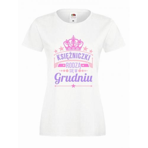 T-shirt lady slim DTG KSIĘŻNICZKI GRUDZIEŃ
