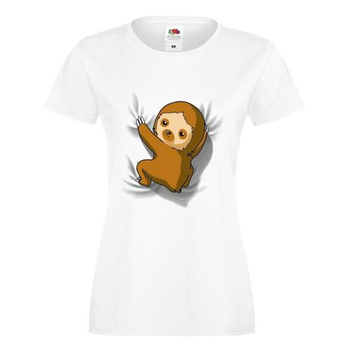 T-shirt lady/oversize DTG SLOTH