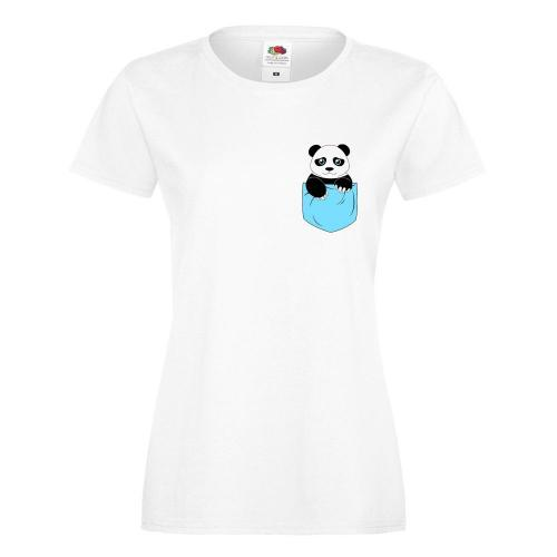 T-shirt lady/oversize DTG PANDA POCKET