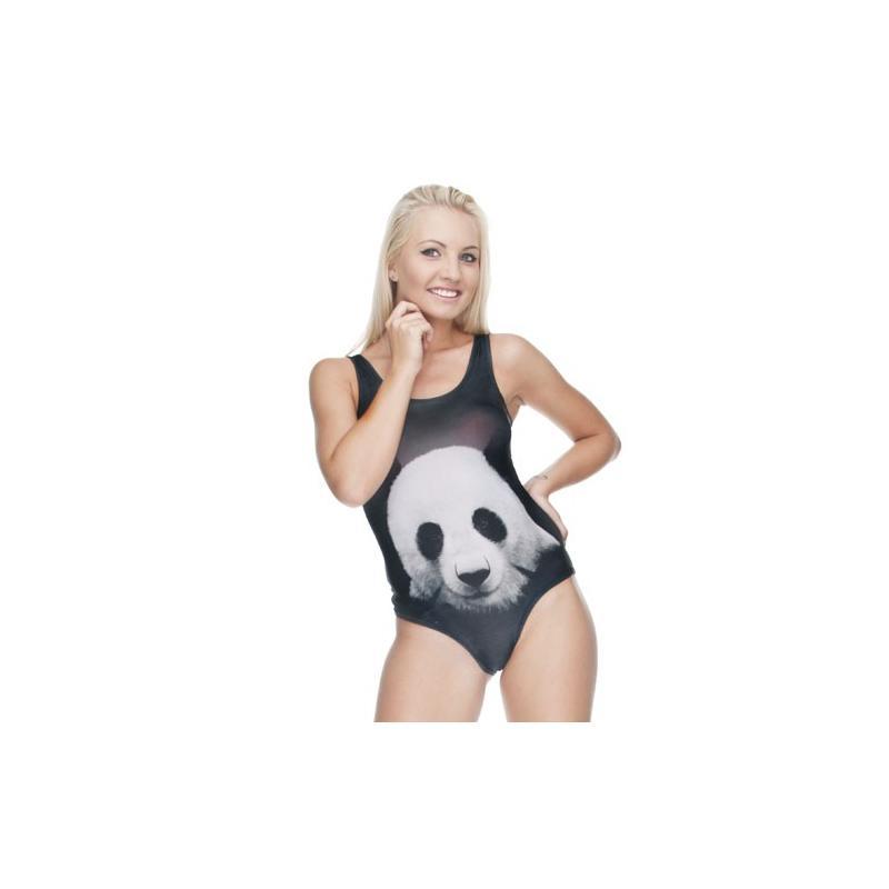 Strój kąpielowy druk BLACK PANDA