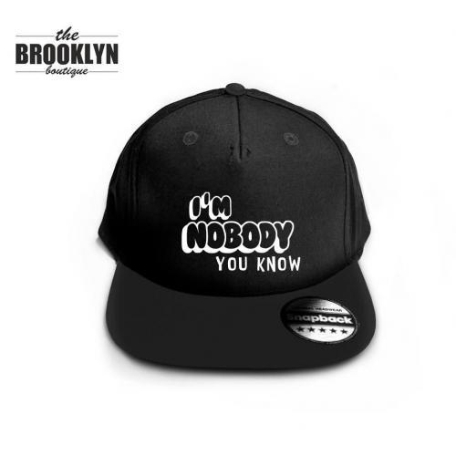 Czapka snapback cap NOBODY