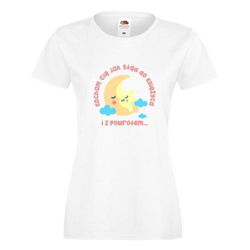 T-shirt lady/oversize DTG JAK STĄD DO KSIĘŻYCA