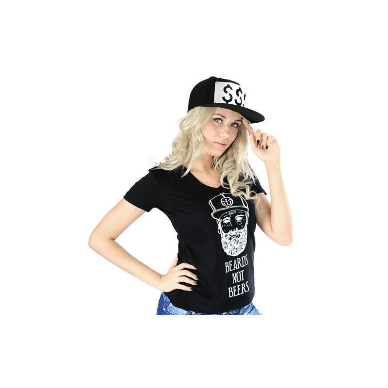 T-shirt v-neck BEARDS /czarna/