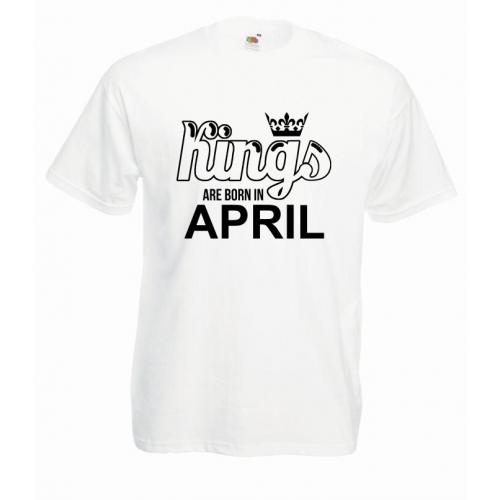 T-shirt oversize KINGS ARE BORN IN APRIL