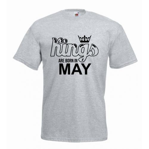T-shirt oversize KINGS ARE BORN IN MAY