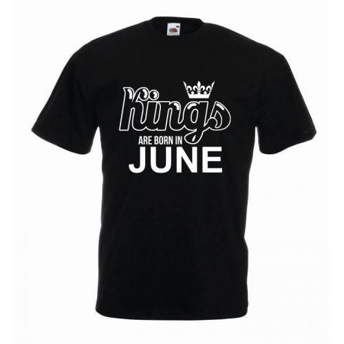 T-shirt oversize KINGS ARE BORN IN JUNE