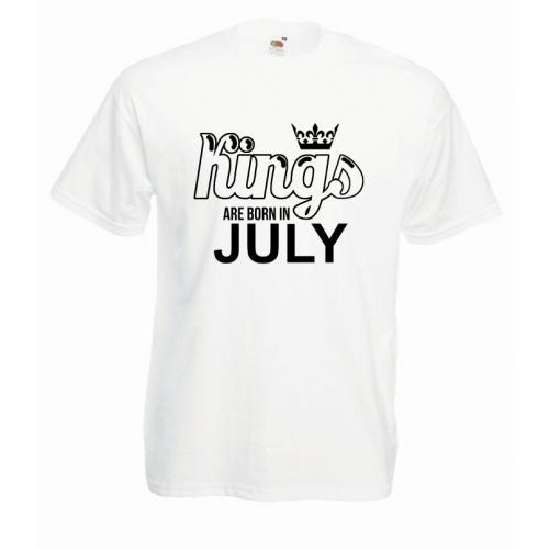 T-shirt oversize KINGS ARE BORN IN JULY