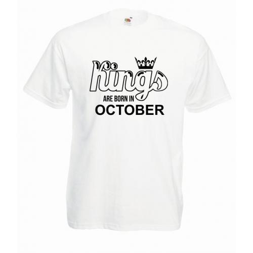 T-shirt oversize KINGS ARE BORN IN OCTOBER
