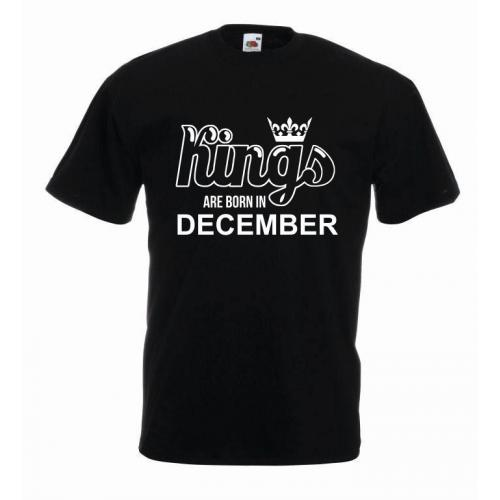 T-shirt oversize KINGS ARE BORN IN DECEMBER