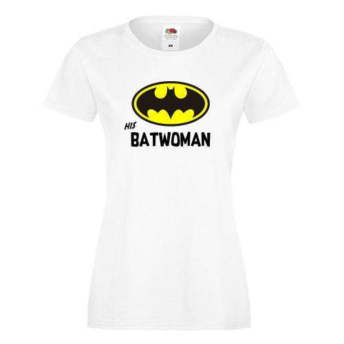 T-shirt lady slim DTG HIS BATWOMAN