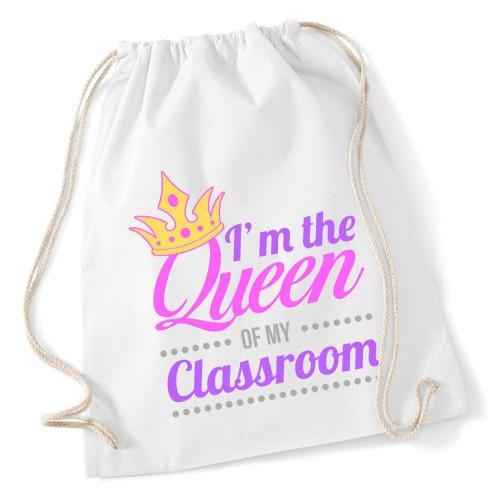 plecak worek DTG QUEEN OF MY CLASSROOM