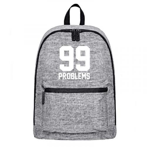 Plecak szary-melanż 99 PROBLEMS