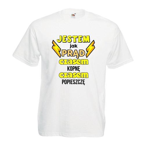 T-shirt oversize DTG JESTEM JAK PRĄD