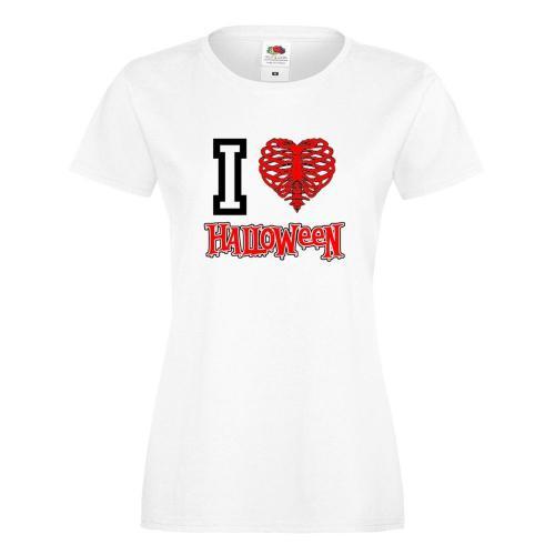 T-shirt lady/oversize DTG I LOVE HALLOWEEN
