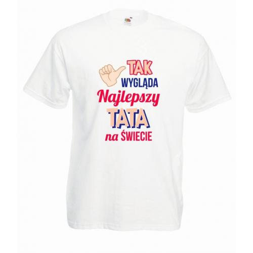 T-shirt oversize DTG TAK WYGLĄDA NAJLEPSZY TATA