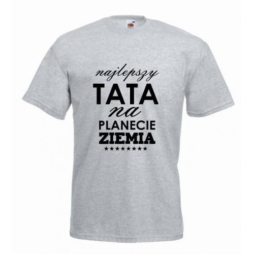T-shirt oversize NAJLEPSZY TATA NA PLANECIE