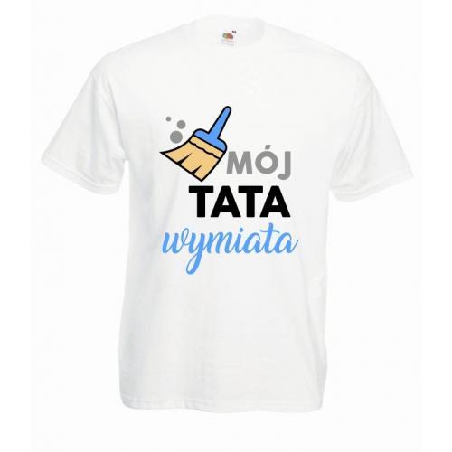 T-shirt oversize DTG MÓJ TATA WYMIATA
