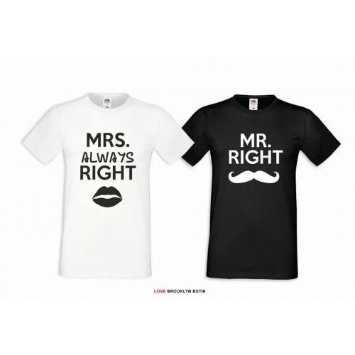 T-shirt DLA PAR 2 SZT MRS & MR
