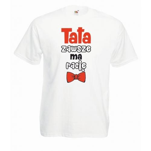 T-shirt oversize DTG TATA ZAWSZE MA RACJĘ