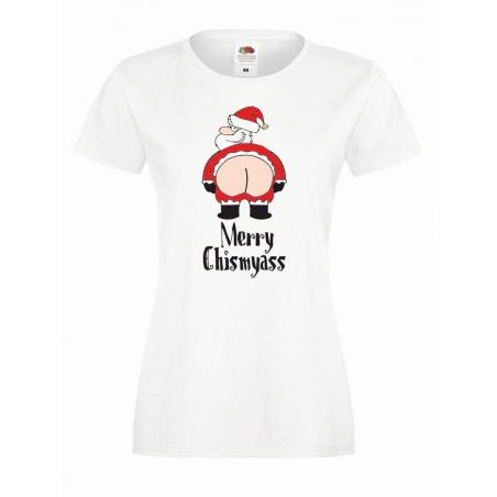 T-shirt lady DTG MERRY CHISMYASS