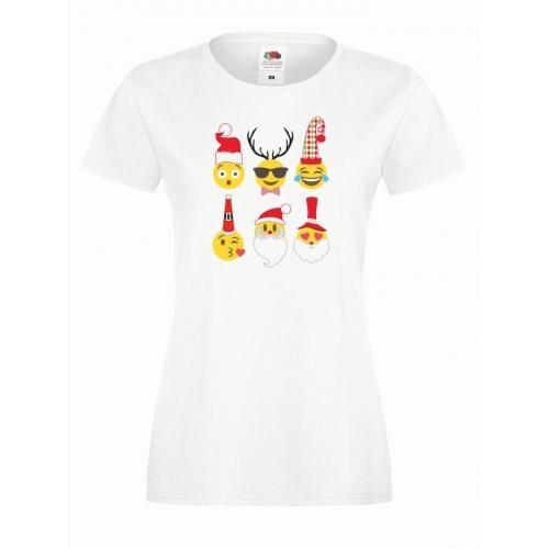 T-shirt lady DTG EMOJI CHRISTMAS