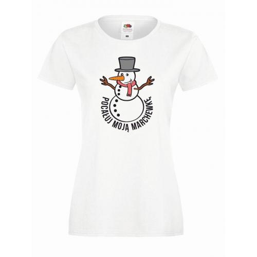 T-shirt lady DTG POCAŁUJ MNIE W MARCHEWKĘ
