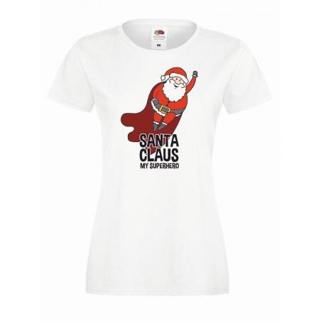 T-shirt lady DTG SANTA CLAUS