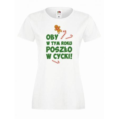 T-shirt lady DTG OBY W CYCKI