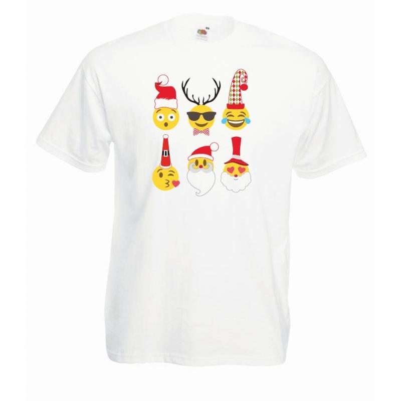 T-shirt oversize DTG EMOJI CHRISTMAS