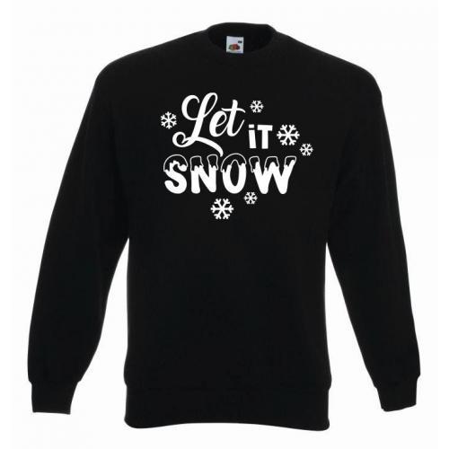 bluza oversize LET IT SNOW