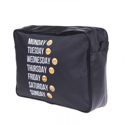 Torba courier EMOJI WEEK BLACK