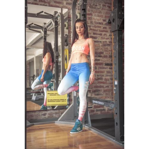 leginsy druk WORK OUT OMBRE