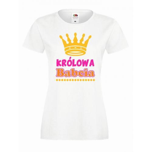 T-shirt lady/oversize DTG KRÓLOWA BABCIA