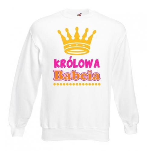 Bluza oversize DTG KRÓLOWA BABCIA