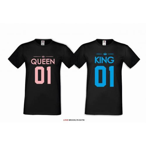 T-shirt DLA PAR 2 SZT QUEEN & KING COLOR
