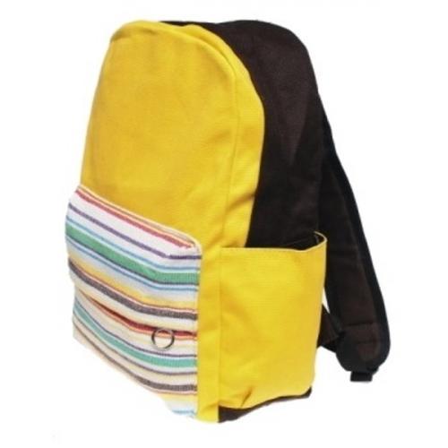 Plecak KANYON /brązowo-żółty/ (OUTLET)