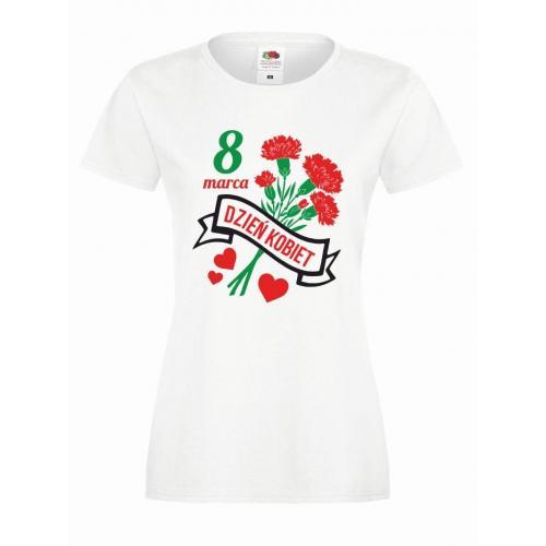 T-shirt lady DTG DZIEŃ KOBIET FLOWERS