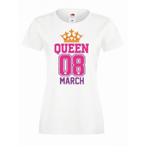 T-shirt lady DTG QUEEN 08