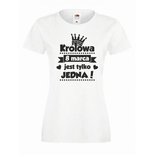 T-shirt lady KRÓLOWA JEST TYLKO JEDNA